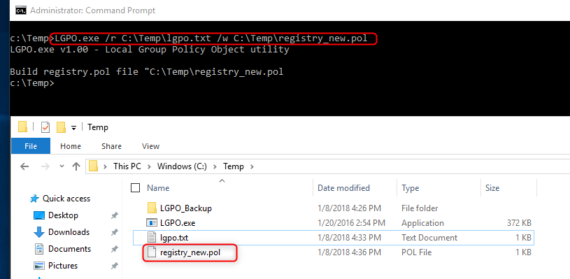 How to individually modify and deploy local GPO settings (LGPO