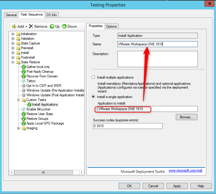 VMware WorkspaceONE Auto Enrollment with MDT