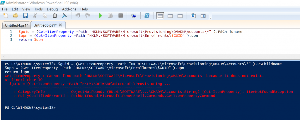 How to run 64bit Powershell from 32bit Powershell with Workspace One