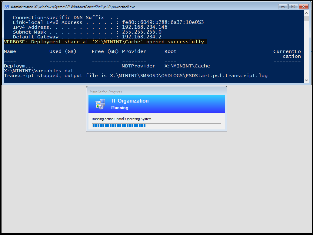 Imaging from the Cloud – How to setup Powershell Deployment Extension (PSD) for MDT with HTTPS