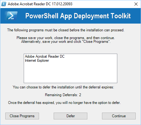 App Install Deferrals (PSADT) with Workspace ONE – Tech Preview